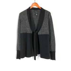 Cynthia Rowley Open Front Tie Color Block Sweater